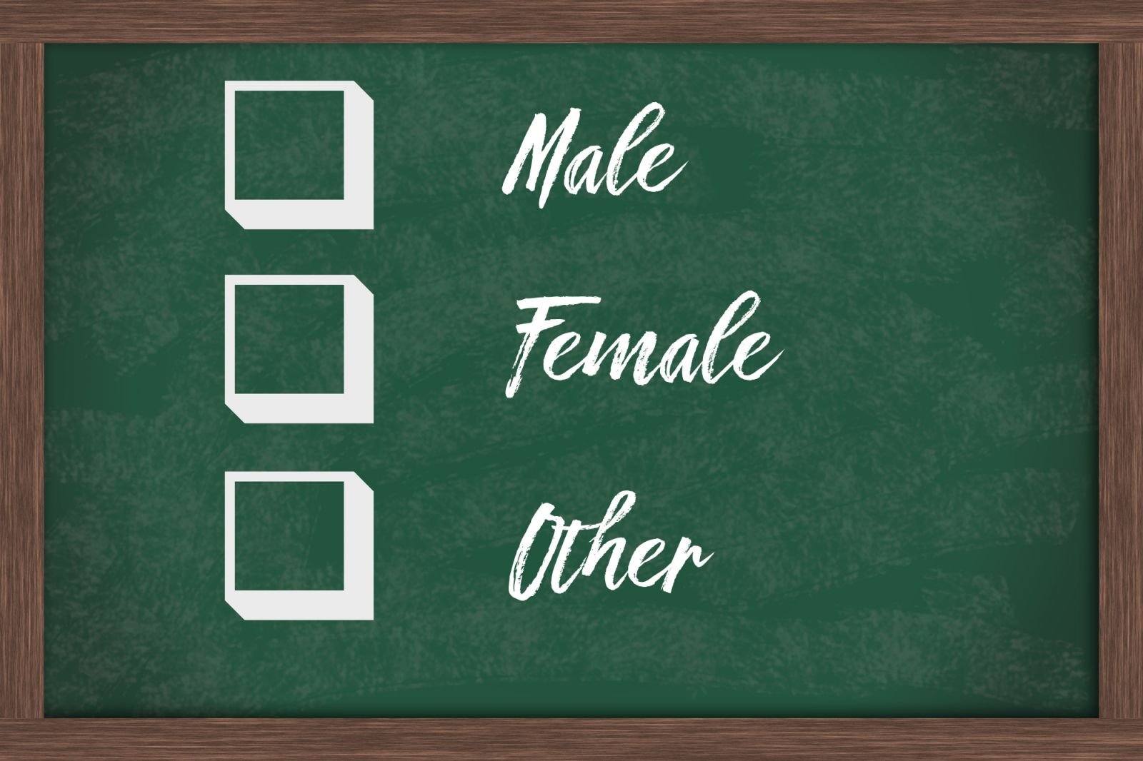 gender check boxes
