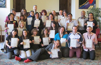 Flagship Programme Students with their Certificates